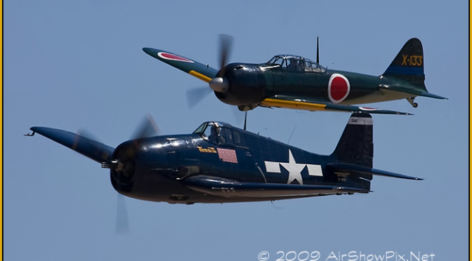 Hellcat  Zero formation airshow