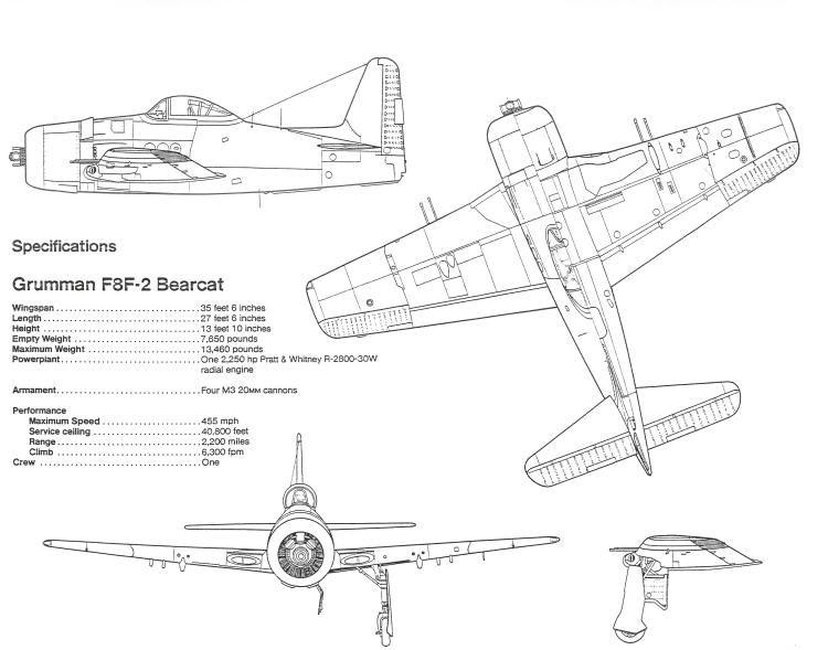 Grumman F8f 2 Bearcat